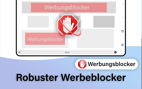 Inkognito Browser - Privater Browser mit AdBlock! Screenshot