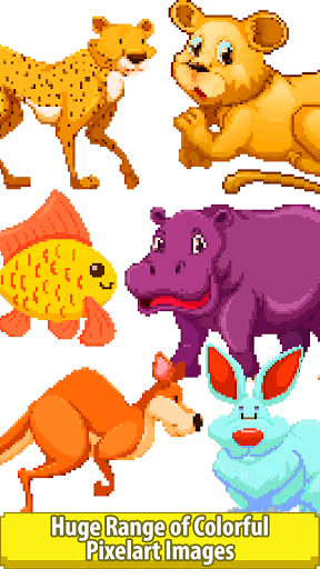 Animals Color by Number-Cats, Dogs, Horse, Unicorn  screenshots 2
