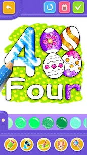 Glitter Number and letters coloring Book for kids Apk 3
