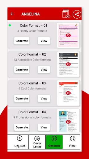Resume Builder App Free CV Maker & PDF Templates 7.5 Screenshots 5