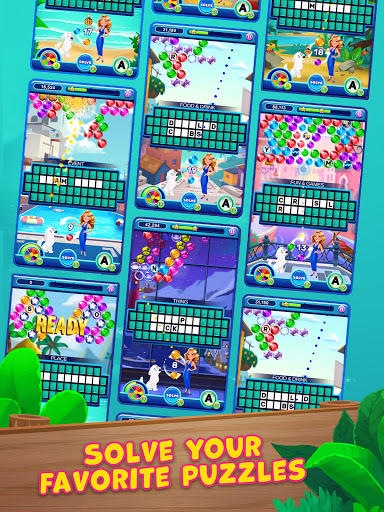 Bubble Pop: Wheel of Fortune! Puzzle Word Shooter apkpoly screenshots 10