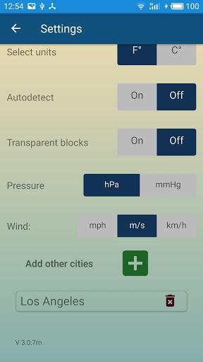 Weather forecast & transparent clock widget  Screenshots 7