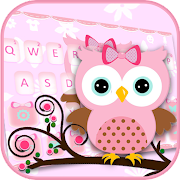 Pink Owl Keyboard Theme