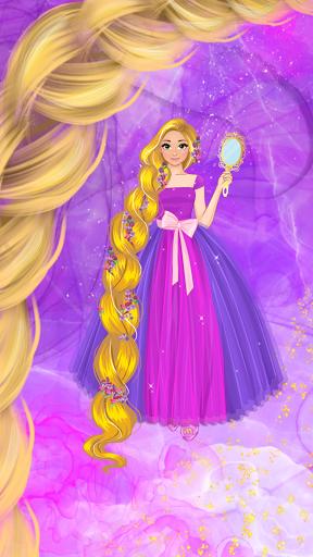 Long Golden Hair Princess Dress up game 1.1.2 screenshots 1