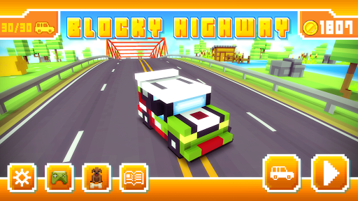 Blocky Highway: Traffic Racing  screenshots 12