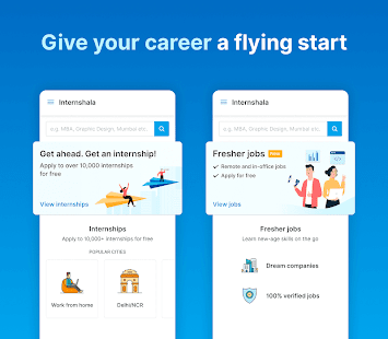Internshala: Internship and fresher job search app Screenshot