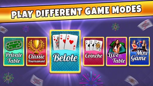 French Belote Free Multiplayer Card Game 2.0.2 screenshots 1