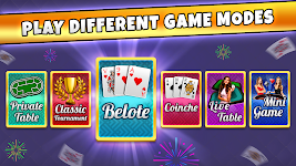 screenshot of French Belote Free Multiplayer Card Game