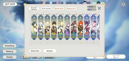 Smart Wish Simulator - non official Genshin Impact  screenshots 14
