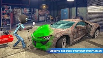 Stickman Car Garage Repair Shop