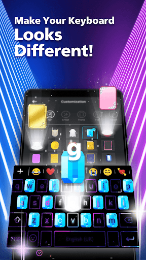 LED NEON Keyboard - Colorful, lighting, RGB, emoji  screenshots 3