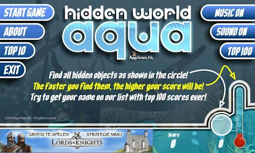 free hidden world aqua screenshot 3