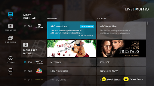 Download APK: XUMO For Android TV Free Movies & TV Shows v1.1 Build88 [Mod]