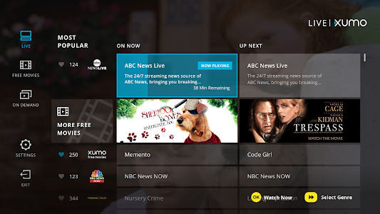 XUMO for Android TV: Free TV shows & Movies 1.1 b88 (Mod)