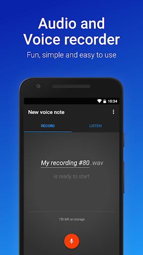 easy voice recorder screenshot 1