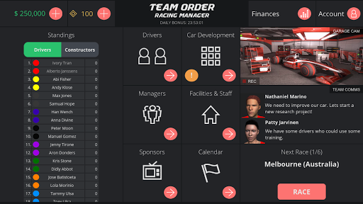 Team Order: Racing Manager (Race Management Games) 1.0.0 de.gamequotes.net 4