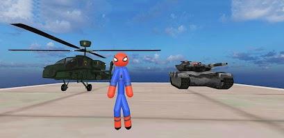 Stickman Spider Rope Hero Gangstar Crime