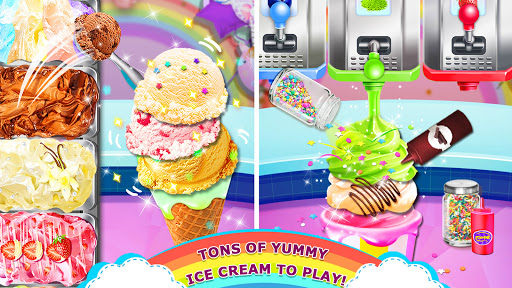 Rainbow Ice Cream - Unicorn Party Food Maker apktram screenshots 4