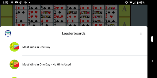 FreeCell with Leaderboards  screenshots 3