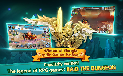 Raid the Dungeon : Idle RPG Heroes AFK or Tap Tap 1.10.2 screenshots 17