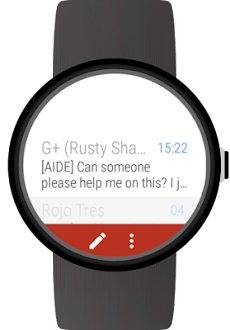 Mail client for Wear OS watchesのおすすめ画像1