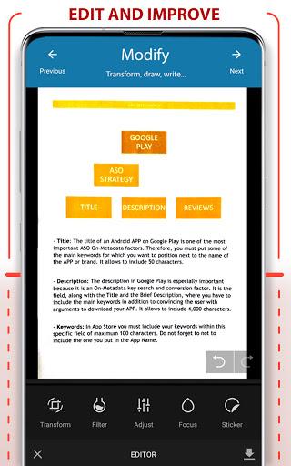 PDF Scanner - Scan documents, photos, ID, passport apktram screenshots 3