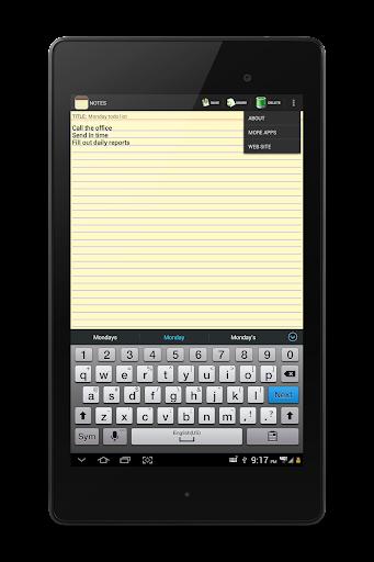 NOTES 1.27 Screenshots 19