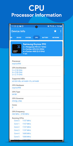 Device Info : View Device Information android2mod screenshots 3