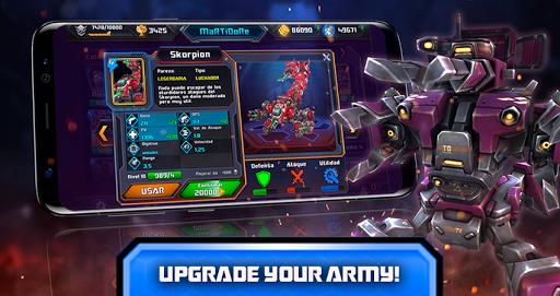 Télécharger Gratuit Steel Wars Royale - Multiplayer Robot Strategy 1v1  APK MOD (Astuce) screenshots 2