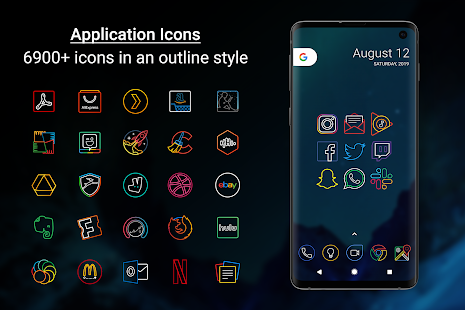 Outline Icons - Icon Pack Screenshot