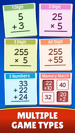 Math Games - Addition, Subtraction, Multiplication apkslow screenshots 4
