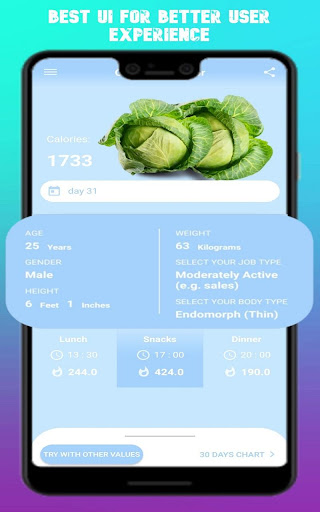 CC - Calorie Calculator  screenshots 2