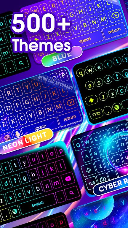Neon LED Keyboard - RGB Lighting Colors poster 9