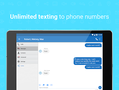 Talkatone: Free Texts, Calls & Phone Number Screenshot