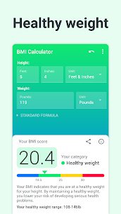 BMI Calculator PRO (MOD, Paid) v2.2.5 2