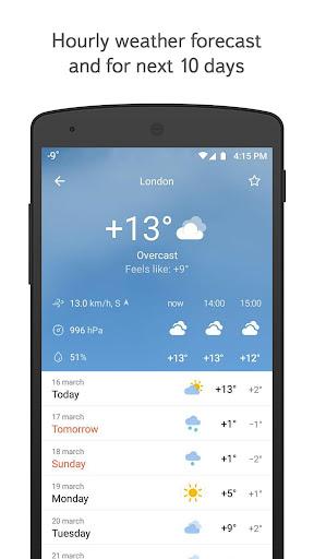 yandex.weather screenshot 1