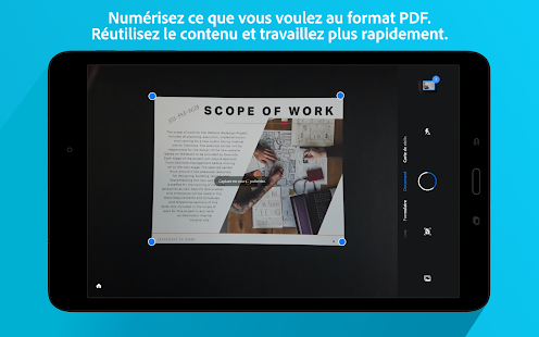 Adobe Scan: scanner de documents et PDF avec OCR Capture d'écran