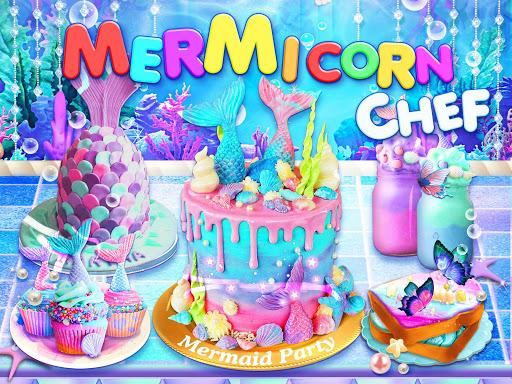 Unicorn Chef: Mermaid Cooking Games for Girls 2.2 screenshots 1