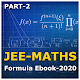 JEE Maths Formula Ebook Part-2 Download for PC Windows 10/8/7
