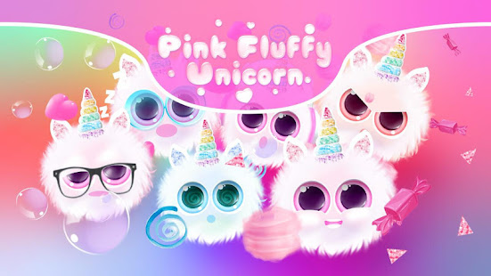 pink fluffy unicorn - cute moving background hack