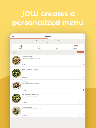 JOW: personalized recipes & groceries android2mod screenshots 9