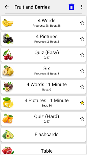 Fruit and Vegetables, Nuts & Berries: Picture-Quiz  screenshots 5