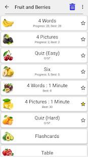 Fruit and Vegetables, Nuts & Berries: Picture-Quiz 3.1.0 Screenshots 5