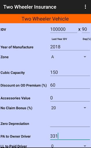 Motor Insurance Calculator Free 8.0.3 screenshots 4