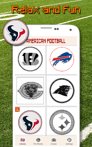 American Football Logo Color By Number - Pixel Art screenshots 5