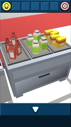 無料脱出ゲーム:ハンバーガーショップからの脱出!あそびごころのある簡単な脱出ゲームのおすすめ画像4