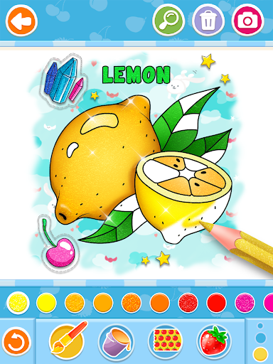 Fruits and Vegetables Coloring Game for Kids  screenshots 19