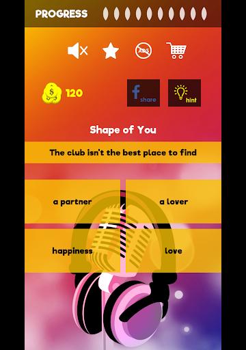 Finish The Lyrics - Free Music Quiz App 3.0.2 Screenshots 9