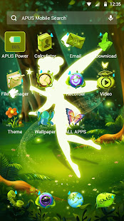 Green Fairy Butterfly-APUS Stylish Theme