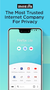 Firefox Lite — Fast and Lightweight Web Browser Screenshot
